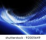 bright blue on black background   Shutterstock . vector #92005649