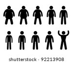 fat to thin process and thin to ... | Shutterstock . vector #92213908