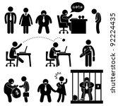 business office workplace... | Shutterstock . vector #92224435