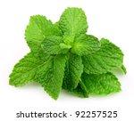 Mint Leaf Close Up On A White...