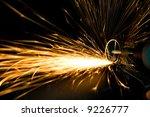 power tool creating huge sparks | Shutterstock . vector #9226777