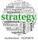 strategy and management concept ... | Shutterstock . vector #92293879