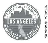 grunge rubber stamp with name... | Shutterstock .eps vector #92309836
