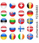 europe flags buttons  part two | Shutterstock .eps vector #92346883
