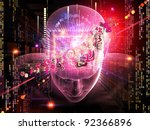 collage of human head  digits... | Shutterstock . vector #92366896