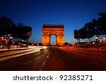 beautiful view of the arch de... | Shutterstock . vector #92385271