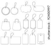 set of labels and tags with... | Shutterstock . vector #92400997