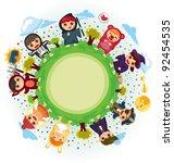 costume party around world | Shutterstock .eps vector #92454535