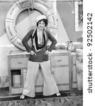 woman in a sailors outfit in...