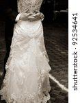 Bride And Groom Dancing At...