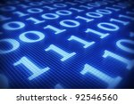 Binary Code On Digital Plane...