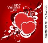valentine's day or wedding... | Shutterstock .eps vector #92562061