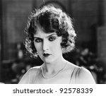 portrait of a woman looking... | Shutterstock . vector #92578339