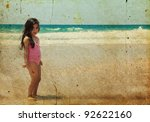 beautiful girl 5 years old on... | Shutterstock . vector #92622160