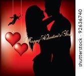happy valentines day | Shutterstock .eps vector #92636740