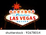 welcome to fabulous las vegas ... | Shutterstock . vector #92678014