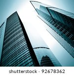 black glass silhouettes of... | Shutterstock . vector #92678362