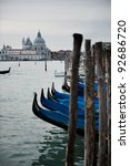 Venice in blues - stock photo