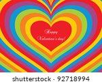 psychedelic heart. valentine's... | Shutterstock .eps vector #92718994