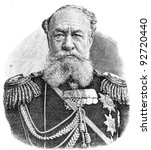 "Small photo of Member of the Council of State Adjutant General Timashev. Engraving on steel by Shubler. Published in magazine ""Niva"", publishing house A.F. Marx, St. Petersburg, Russia, 1893"