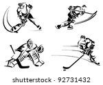 hockey players | Shutterstock .eps vector #92731432