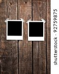 Blank Instant Photo Frames On...