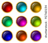 set of web buttons with gems... | Shutterstock .eps vector #92760154