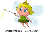 little fairy on a white... | Shutterstock . vector #92763004