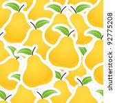 orange pear seamless background | Shutterstock .eps vector #92775208