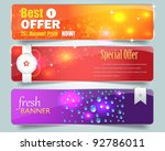 web banner vector set | Shutterstock .eps vector #92786011