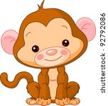 fun zoo. illustration of cute... | Shutterstock .eps vector #92792086