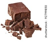 chocolate block with pieces... | Shutterstock . vector #92799850