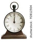 Antique Bronze Table Clock On ...