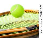 tennis. a ball. a racket. | Shutterstock . vector #92821171