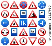 Road Signs Set On A White...