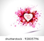 greeting card with the...   Shutterstock .eps vector #92835796