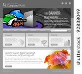 gray website template 960 grid.   Shutterstock .eps vector #92838049