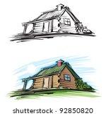 log cabin | Shutterstock .eps vector #92850820