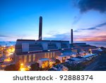 Coal Power Station And Night...
