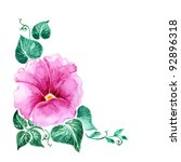 hand painted illustration  pink ... | Shutterstock . vector #92896318