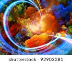 Abstract Landscape Of Colorful...
