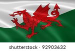 welsh flag in the wind. part of ... | Shutterstock . vector #92903632