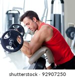 man with weight training... | Shutterstock . vector #92907250