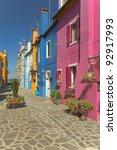 color houses in venice island... | Shutterstock . vector #92917993