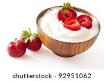 strawberry and yogurt  in a... | Shutterstock . vector #92951062