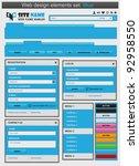 web design elements set blue....   Shutterstock .eps vector #92958550