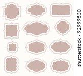 set of vintage frames | Shutterstock . vector #92999530