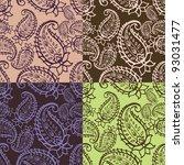 paisley seamless patterns | Shutterstock . vector #93031477