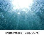 sun rays shining through a... | Shutterstock . vector #93073075