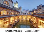 Old Roman Baths At Bath ...